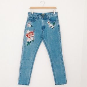 Top Trends | Embroidered High Waisted Jeans